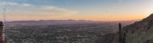 Fotobehang Arizona Phoenix Sunset Panorama
