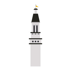 white castle tower icon image vector illustration design