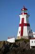 Painted Cross on Canadian Lighthouse Tower on Campobello Island