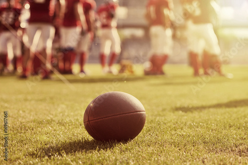 Close up of an american football