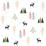 Seamless natural ornament on the Christmas theme - 169623046