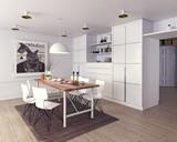 modern dining room - 169630081