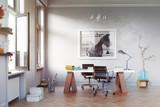 modern study room - 169630082