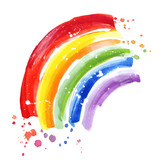 Rainbow colors paint strokes. Rainbow flag, gay pride symbol - 169634486