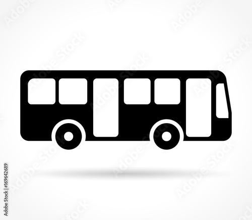 Fototapeta bus icon on white background