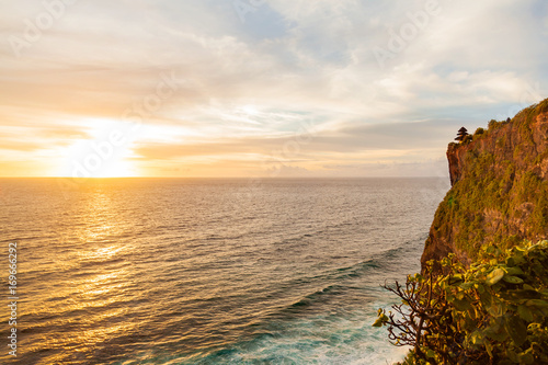 Tuinposter Bali Sunset at Pura Luhur Uluwatu. Bali island, Indonesia.