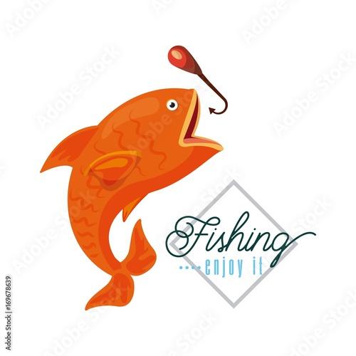 fishing enjoy it icon vector illustration design graphic