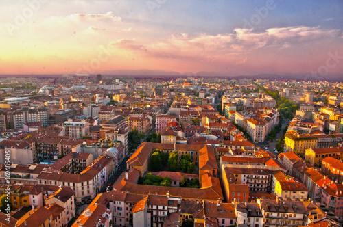 Fotobehang Milan Milano dall'alto