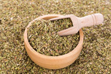 Dried Oregano in wooden bowl - 169689208