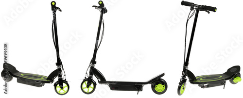 electric scooter on white background