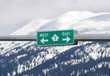 TransCanada Highway sign with mountain background