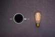 A energia do café, cafeína, conceito de ideia, inspiração, criatividade. - 169706889