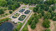 Aerial view of the Italians gardens in Hyde park in London - 169710010