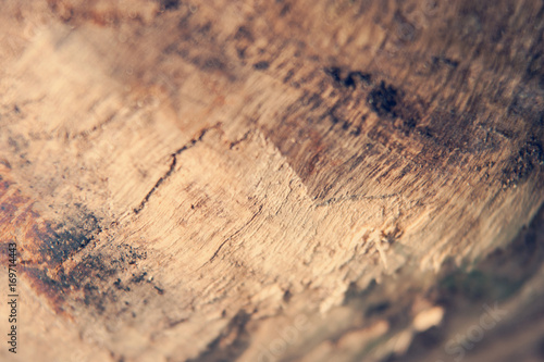 Papiers peints Texture de bois de chauffage Close shot of a piece of firewood showing texture and grain. Shallow depth of field.