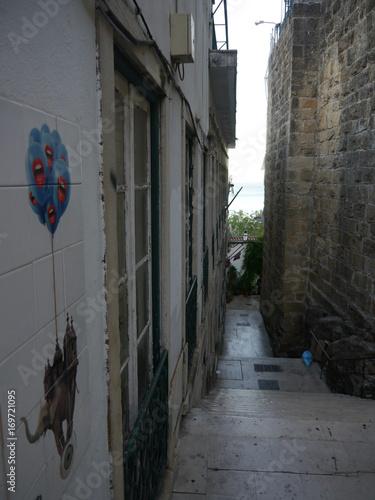Papiers peints Ruelle etroite Ruelle étroite à Lisbonne