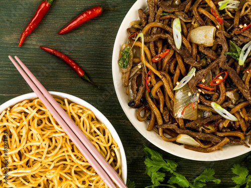 Shanghai Fried Beef and Udon Noodles Poster
