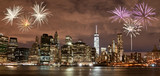 Fireworks over New York City skyline - 169727868