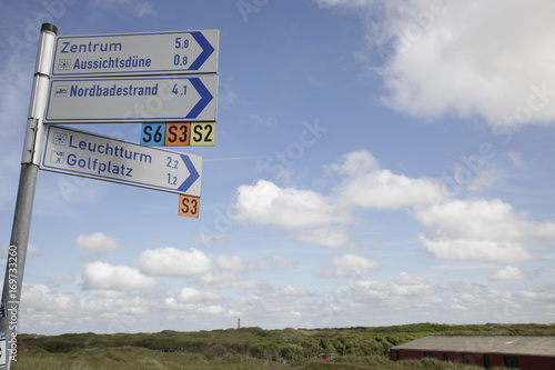 Poster Noordzee Norderney, Weiße Düne