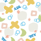 Seamless Vector Pattern with pastel colors