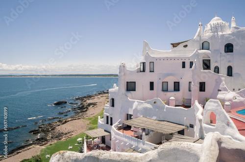 Papiers peints Santorini Vista para o mar de Punta Ballena, Punta del Este