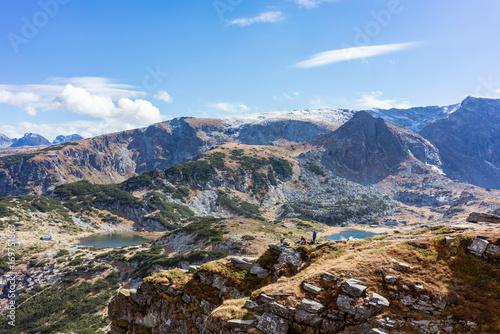 Foto op Plexiglas Bergen View on the seven rila lake region in the bulgarian mountains, overview