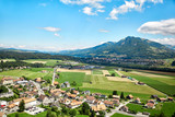 Panoramic view of Gruyere, Switzerland