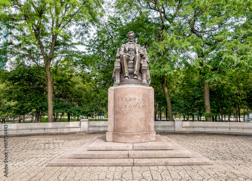 Poster Chicago Abraham Lincoln Statue in Grant Park, Chicago, Illinois