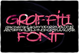 Graffiti font with colorful pink abstract background fill - 169778859