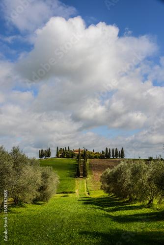 Aluminium Toscane Haus aus dem Film der Gladiator in der Toskana