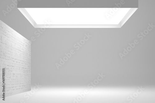 Poster Betonbehang background with light panel