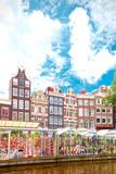 Flower market in Amsterdam (Bloemenmarkt), wide angle - 169797295