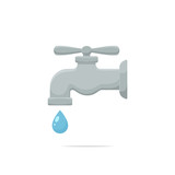 Faucet vector isolated illustration - 169797689