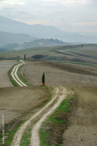 Fotobehang Bleke violet italian landscape