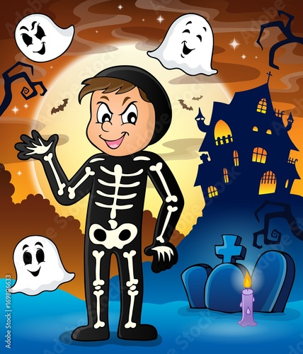 Aluminium Voor kinderen Boy in Halloween costume theme image 2