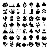 Fototapety Nature vector icons set, park, outdoors animals, ecology, organic food design - big pack