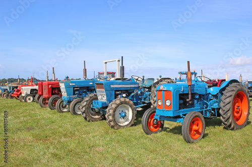 Vintage tractors Poster