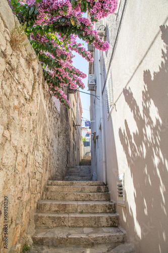 Fototapeta Old street narrow in Croatia
