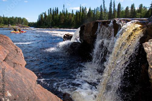 Papiers peints Rivière de la forêt Summer nature landscape with a river