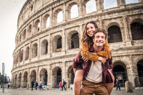 Sticker Couple at Colosseum, Rome