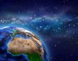 Planet Earth in star field - 169833443