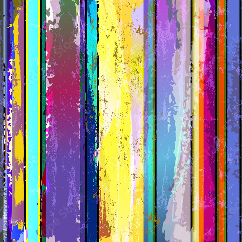 Aluminium Abstract met Penseelstreken abstract background composition, with stripes, paint strokes and splashes
