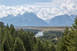 View from Snake River Overlook in Grand Teton