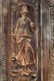 Détail du porche nord de l'église Saint-Maclou. Rouen - 169842627
