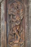 Détail du porche nord de l'église Saint-Maclou. Rouen - 169842670