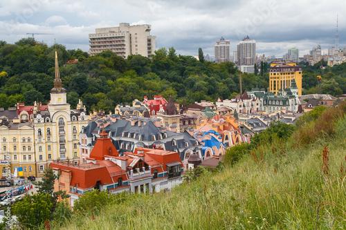 Fotobehang Kiev Views of buildings from the Castle hill or Zamkova Hora in Kiev. Ukraine
