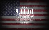 Patriot Day of USA background on american flag - 169862085