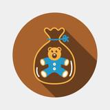 Little teddy bear icon