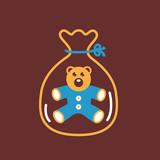Little teddy bear in package.