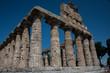 Tempel in Paestum archäologische Ausgrabungsstätte, Salerno, Campania, Italien