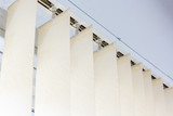 Modern vertical blinds on the window of the office - 169883820